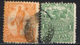 URUGUAY - 1904 - STATUA DI ARTIGAS, BESTIAME - USATI - Uruguay
