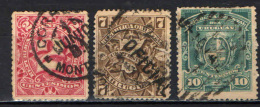 URUGUAY - 1889 -  STEMMA DELL'URUGUAY E CIFRE CON DECORI - USATI - Uruguay