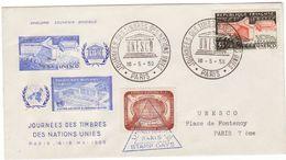 United Nations Stamp Days Paris 1959 + UNESCO - New-York - Siège De L'ONU