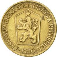 Tchécoslovaquie, Koruna, 1980, SUP, Aluminum-Bronze, KM:50 - Czechoslovakia