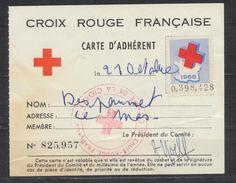 Carte D'adhérent De La Croix Rouge Française 1968 - Maps