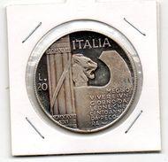 MEDAGLIA NUMISMATICA -MUSSOLINI-20 LIRE - Monetary/Of Necessity