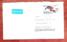 Brief, EF Snowboarder, Nach Roethe 2014 (40644) - Tschechische Republik