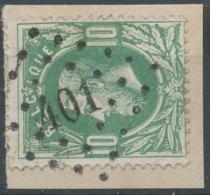 N° 30, Sur Petit Fragment, Superbe Obl 'LP401' Wetteren, Nipa +7,5? - 1869-1883 Léopold II