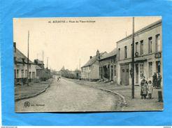 AULNOYE-Place Du Vieux Aulnoy-l'estaminet-animée- Années 1910-20 édition Hautmont - Aulnoye