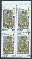 1986 ITALIA FOLCLORE CATANIA LE CANDELORE QUARTINA MNH ** - ED-4 - 6. 1946-.. Republik