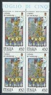 1986 ITALIA FOLCLORE CATANIA LE CANDELORE QUARTINA MNH ** - ED-5 - 6. 1946-.. Republik