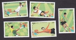 Cambodia, Scott #1300-1304, Mint Hinged, Soccer, Issued 1993 - Cambodge