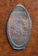 Ancien Jeton Touristique - Pièce écrasée - USA - Jerome En Arizona - ( La Ville Des Mineurs De Cuivre ) - Elongated Coins