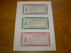 Autriche Schilling:travellers Cheque De 250 ATS, 500 ATS & 1000 ATS De Creditanstalt Bankverein Wien. Travellers Cheques - Monnaies & Billets