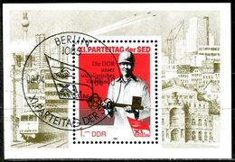 DDR - Michel Block 83 = 3013 - OO Gestempelt (A) - Parteitag Der SED 86 - [6] Oost-Duitsland