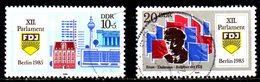 RDA. N°2571-2 Oblitérés De 1985. Parlement Des Jeunes. - Usados