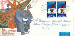 1979 Lettre Avion Pour Les USA    Coopération Technique 65 Fr X2 - Côte D'Ivoire (1960-...)