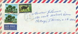 1982 Lettre Avion  Pour Les USA   Savane Boisée  80 Fr X2,  Céphalophe, - Côte D'Ivoire (1960-...)