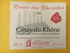 4843 - Cuvée Des Choralies 1988 Cave La Romaine - Côtes Du Rhône