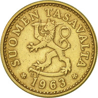 Finlande, 10 Pennia, 1963, TTB+, Aluminum-Bronze, KM:46 - Finlande