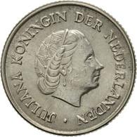 Pays-Bas, Juliana, 25 Cents, 1963, TTB+, Nickel, KM:183 - [ 3] 1815-… : Reino De Países Bajos