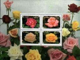 CISKEI, 1994, Mint Never Hinged Stamp(s ), MI 251-254, Roses Block 10 - Ciskei