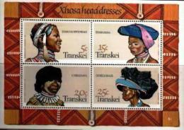 TRANSKEI, 1981, Mint Never Hinged Stamp(s ), MI 92-95, Head Dresses Block 1 - Transkei