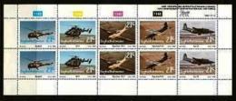 BOPHUTHATSWANA, 1990 Mint Never Hinged Stamp(s ) In Full Sheet , MI 252-256, Air Force - Bophuthatswana
