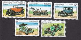 Cambodia, Scott #1340-1344, Mint Hinged, Classic Cars, Issued 1994 - Cambodia