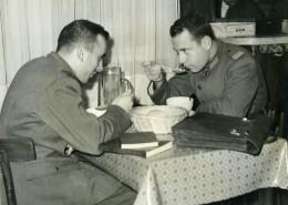 Argentine Buenos Aires Cantine Etudiants Militaire Ancienne Photo 1953 - War, Military