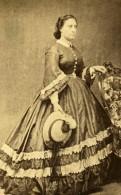 Madame Faccioti Tunis Second Empire Présence Française Ancienne Photo CDV Delintraz 1860 - Photographs