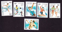 Cambodia, Scott #1346-1351, Mint Hinged, Olympics, Issued 1994 - Cambodja