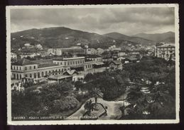 SAVONA 1937 - PIAZZA UMBERTO 1° E STAZIONE FERROVIARIA - Savona
