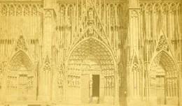 France Strasbourg Portail De La Cathedrale Ancienne Photo CDV 1870 - Photographs