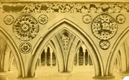 France Mont Saint Michel Rosaces Du Cloitre Ancienne Photo CDV 1870 - Photographs
