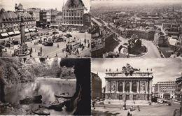 4 CPSM/pf (59) LILLE.  Place Du Général De Gaulle. Vue Générale. Jardin Vauban. Le Théatre.  ..G414 - Tourcoing