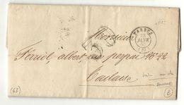 Hautes Pyrénées - Tarbes Pour Toulouse. Lettre Réponse à Surnumération Dans Le Service Des Douanes. Concours De 1860 - Marcophilie (Lettres)
