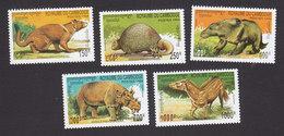 Cambodia, Scott #1359-1363, Mint Hinged, Prehistoric Animals, Issued 1994 - Cambodja