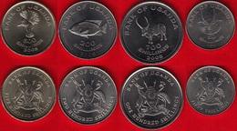 Uganda Set Of 4 Coins: 50 - 500 Shillings 2007-2008 UNC - Uganda