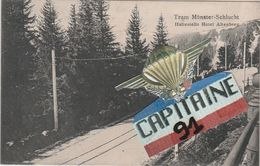CPA MUNSTER HAUT RHIN TRAM MUNSTER SCHLUCHT - Munster