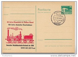 150 J. EISENBAHN Forst DDR P84-22-85 C122 Postkarte Zudruck Stpl. 1985 - Trains