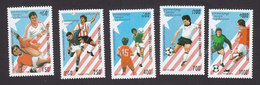 Cambodia, Scott #1364-1368, Mint Hinged, Soccer, Issued 1994 - Cambodia