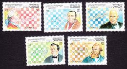 Cambodia, Scott #1385-1389, Mint Hinged, Chess, Issued 1994 - Cambodia