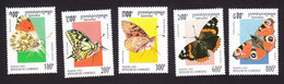 Cambodia, Scott #1415-1419, Mint Hinged, Butterflies, Issued 1995 - Cambodia