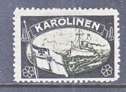 Caroline Islands  Mourning Label LOST COLONIES     * - Colony: Caroline Islands