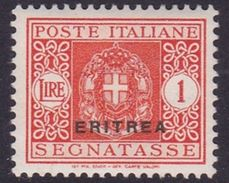 Italy-Colonies And Territories-Eritrea J34 1934 Postage Due,1 Lira ,mint Hinged - Erythrée