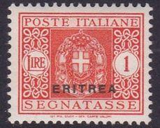 Italy-Colonies And Territories-Eritrea J34 1934 Postage Due,1 Lira ,mint Hinged - Eritrea