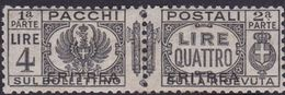Italy-Colonies And Territories-Eritrea PP30 1927 Parcel Post, 4 Lire Gray Black ,mint Hinged - Eritrea