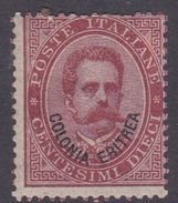 Italy-Colonies And Territories-Eritrea S 4 1893 King Umberto I 10c Carmine,mint Hinged - Eritrea