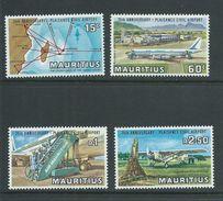 Mauritius 1971 Plaisance Airport & Plane Set Of 4 MNH - Mauritius (1968-...)