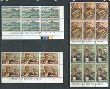 Mauritius 1972 Pirates & Privateers Set Of 4 Harrison Imprint Blocks Of 6 MNH - Mauritius (1968-...)