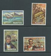 Mauritius 1972 Pirates & Privateers Set Of 4 MNH - Mauritius (1968-...)