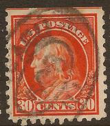 USA 1914 30c Washington P10 SG 446 U #AAI212 - Etats-Unis