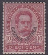 Italy-Colonies And Territories-Eritrea S 15 1895-99 King Umberto I  10c Claret ,mint Hinged - Erythrée